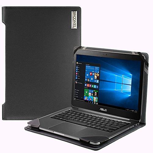 Navitech Broonel London - Profile Series - Etui Noir en Cuir de Compatible avec Ordinateur Portable Compatible avec ASUS P550 15-inch