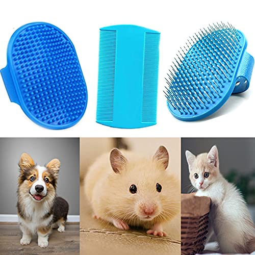 3 Pieces Rabbit Grooming Kit,Guinea Pig Grooming Kit with Rabbit Grooming Brush Comb, Rabbit Hair...