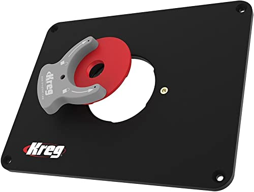 new arrival Kreg Tool Precision sale popular Router Table Insert Plate w/Level-Loc Rings (predrilled Triton), Black & Red (PRS4034) online sale
