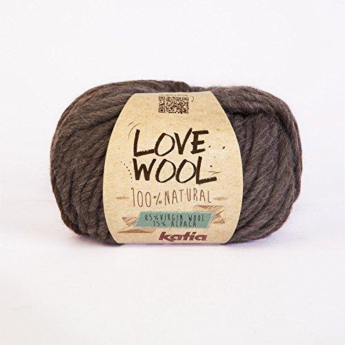 Love Wool, dickes Dochtgarn von Katia in dunkelbraun (103)