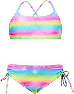 MHJY Girls Bikini Swimsuit 2-Piece Swimwear Bathing Suit with Adjustable Strap