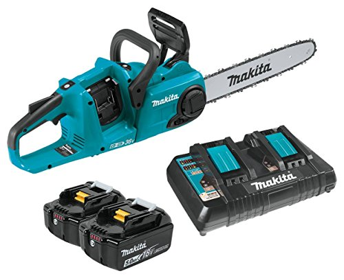 Makita XCU03PT 18V X2 (36V) LXT Lithium-Ion Brushless Cordless (5.0Ah) 14' Chain Saw Kit, Teal