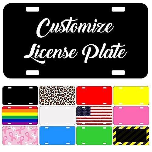 """Custom Personalized Mini License Plate 3"""" X 6""""