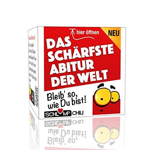 Schlump-Chili⎥Das schärfste Abitur - ein witziges und originelles Geschenk Set! Eine tolle Geschenkidee für Schüler zum Schulabschluss, Examen und Abschlussprüfung.