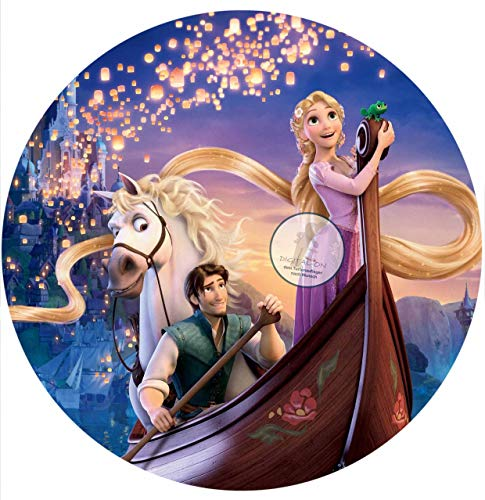 Für den Geburtstag ein Tortenbild, Zuckerbild mit dem Motiv: Rapunzel neu verföhnt, Essbares Foto für Torten, Fondant, Tortenaufleger Ø 20cm, 0796w