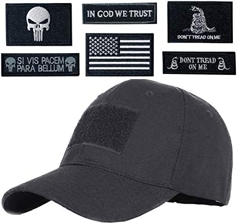 Hng Kiang Hu Tactical Hat with 6 Pieces Military Patches Adjustable Operator Flag Hats Cap Army product image