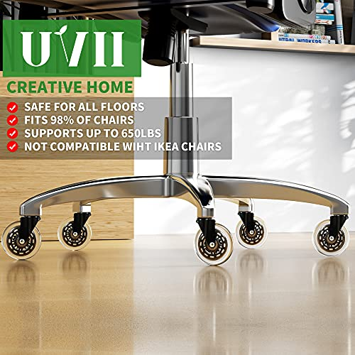 """UVII Office Chair Caster Wheels(Set of 5),3"""""""