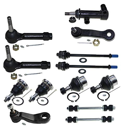 Sway Bar Links Idler Arm and Adjusting Sleeves 4WD Only Pitman Arm Inner /& Outer Tie Rod Ends 11 Piece Kit Idler Arm Bracket