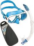 Cressi Marea VIP Pack de Snorkel, Unisex Adulto, Azul, Talla Única