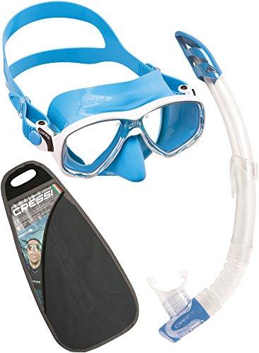 Cressi Marea Vip - Schnorchel-Set bestehend aus Marea-Maske und Gamma-Schnorchel, verschiedene Farben, Einheitsgröße, Unisex Adults