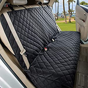 VIEWPETS Bench Car Seat Cover Protector – Waterproof, Heavy-Duty and Nonslip Pet Car Seat Cover for Dogs with Universal Size Fits for Cars, Trucks & SUVs