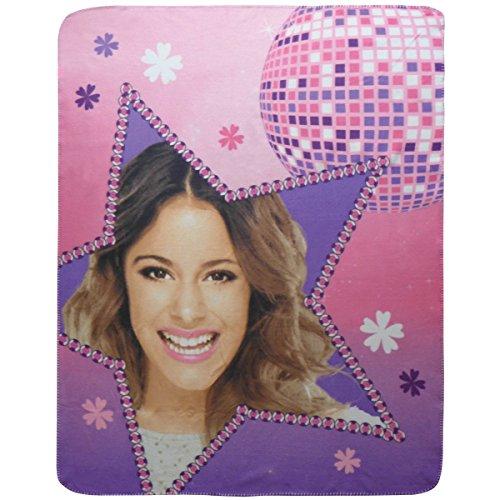 Disney Violetta Fleece Decke, Violett, 110x140