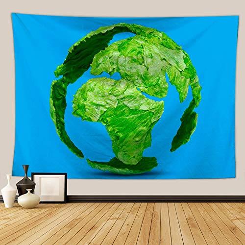 Daesar Arazzo Copridivano, Arazzo da Appendere al Muro Terra Vegetale Verde Blu Telo Spiaggia Yoga 100×75CM Arazzo Poliestere