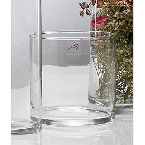 Glasvase CYLI Glas Vase Tischvase Blumenvase Zylinder 15 cm