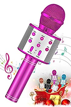 SEATANK Bluetooth Karaoke Wireless Microphone for Kids Toys Wireless Portable Karaoke Machine Handheld Mic Speaker Christmas Birthday Party for Kids Gifts Android/iPhone Compatible  Purple