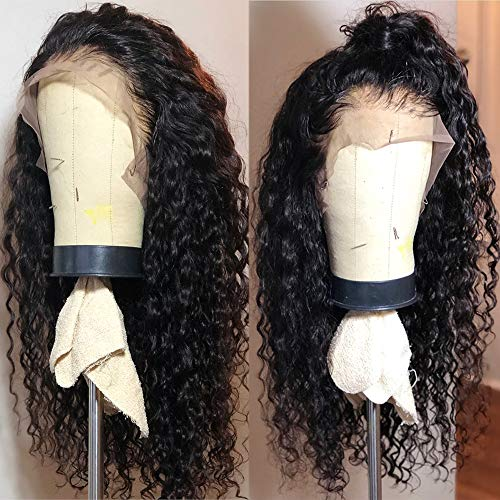 Fureya Long Loose Curly Glueless Lace Front Wigs for Women Heat Resistant Fiber Synthetic Hair with Baby Hair 180 Density 24 inch