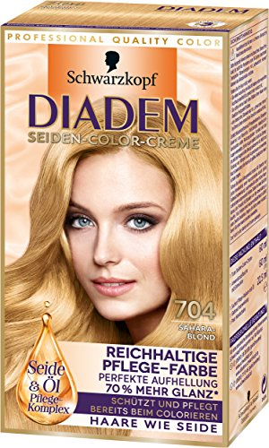 Diadem Seiden-Color-Creme, 704 Saharablond, 3er Pack (3 x 142 ml)