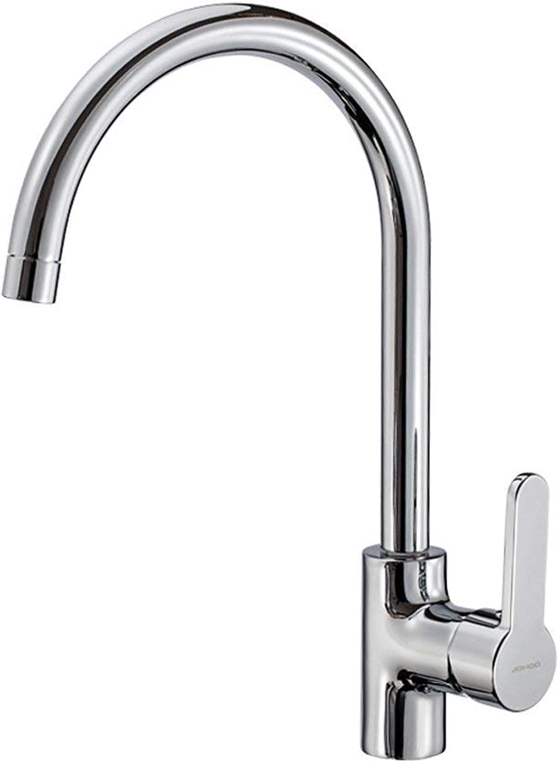 DYR Faucet Bathroom Faucet Brass Brass Material Chrome on the surface Faucet with cold and cold water Single lever faucet with high bend 3336