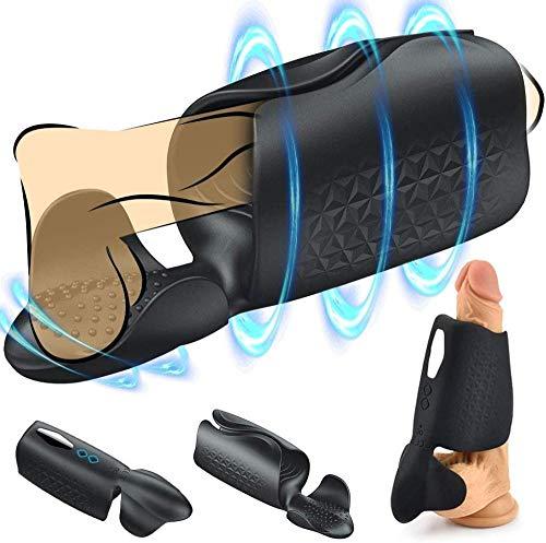 Faguang USB wiederaufladbare männliche Vakuumpumpe Penisverlängerungspumpe Penis Extender verbesserte Penisbewegungsfunktion T-Shirt mit LCD-Display