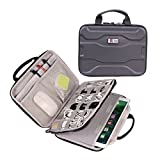 Electronics Organizer Travel Cable Cord Wire Bag Accessories Gadget Gear Storage Hard Cases for 10.5 Inch Tablet (Black)