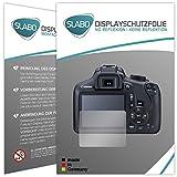 Slabo 2 x Protector de Pantalla para Canon EOS 1300D lámina Protectora No Reflexion | No Reflexiones Mate