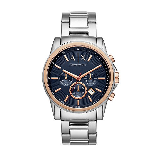 Armani Exchange Reloj Cronógrafo para Hombre de Cuarzo con Correa en Acero Inoxidable AX2516