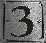 eCobbler Silver Stick On Door Numbers 0 To 9 - Number 3