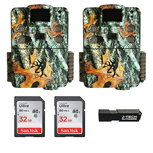 (2) Browning Strike Force HD PRO X Trail Game Cameras Bundle Includes 32GB Memory Cards and J-TECH Card Reader (20MP) | BTC5HDPX