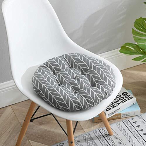 homeyuser 2 gepolsterte Sitzkissen für Stuhl, Sitzkissen, rund, für Esszimmer, Garten, Küche, Büro, 40 cm (grau 2)
