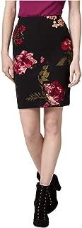 Floral Print Knit Crêpe Pencil Skirt