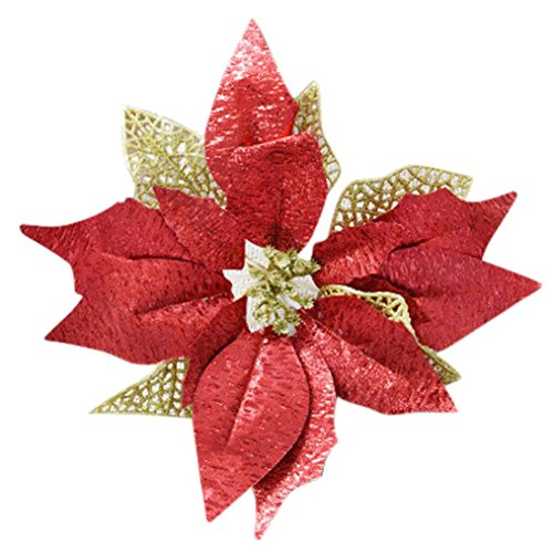 Artificial Flowers Clearance, Paymenow Halloween Or Christmas Tree Ornament Christmas Ornament Bowknot Festival Supplie (Red)