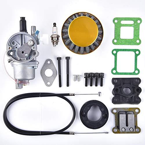 Luftfilter Stapel Vergaser Carb Ersatz für 2-Takt 47cc 49cc Mini ATV Quad Dirt Pocket Bike Gelb