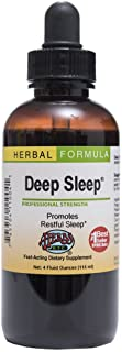 Deep Sleep - Natural Herbal Sleep Aid Supplement - Non-Habit Forming - All Natural Sleep Remedy - 4 oz Liquid Extract (Con...