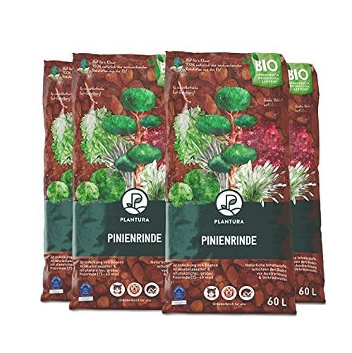Plantura Bio Pinienrinde, 25-40 mm, 240 L, grob, naturbelassen & dekorativ, unterdrückt Unkrautwuchs