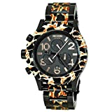 Nixon Unisex 42-20 Chrono 42.25mm Black Metal Bracelet Steel Case Quartz Analog Watch A037-1153
