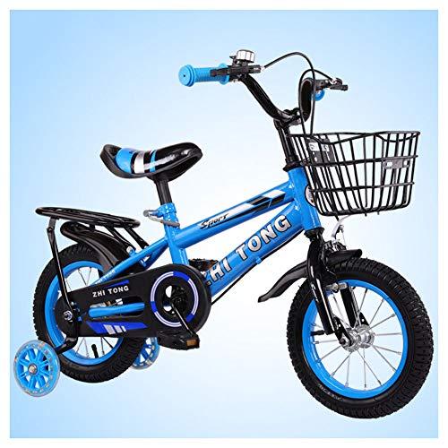 Kinderfiets voor 2-9 Jaar Oude Kinderen, 12 14 16 18 Inch Kinderfiets met Trainingswielen, Eenvoudige montage Kinderfiets