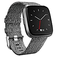 Compatibility: This woven replacement strap is specially designed compatible for Fitbit Versa 2 / Versa / Versa Lite / Special Edition Smart watch, which is similar to the original special edition strap. (NOTE: No Watch included) Premium Material: Th...