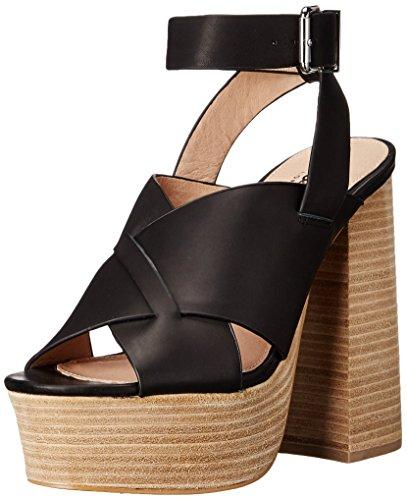 Shellys London Women's Loud Platform Sandal, Black, 39 EU/8.5 M US