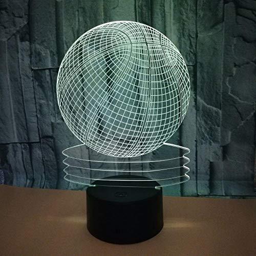 3D Nachtlicht 3D knistrig Baskeln Basking Lampe 7 Farbwechsel LED Nachtlicht für Kinder Geschenk LED USB-Tisch Baby Schlaf Atmosphäre Lampe Gifts for children