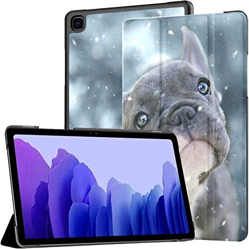 Funda para Tableta Samsung A7 Bulldog francés de 3 Meses Su Funda para Samsung Galaxy Tab A7 10,4 Pulgadas Funda Protectora de liberación 2020 Funda Protectora para Samsung Galaxy A7 Funda de Cuero P
