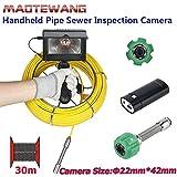 MYZZ 30M 4.3 Pulgadas 22mm Inspección de alcantarillado de tubería Industrial de Mano Cámara de Video IP68 Inspección de alcantarillado de tubería de Drenaje Impermeable