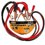 Herran Cavi per Batteria Auto 1200AMP-Cavi di Avviamento per Batteria Amperaggio1200A, Cavi di Collegamento 2,4metri