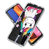 FAWUMAN Hülle für Samsung Galaxy A20s,Durchsichtig Handyhülle Hybrid Rundumschutz (Hartplastik +...