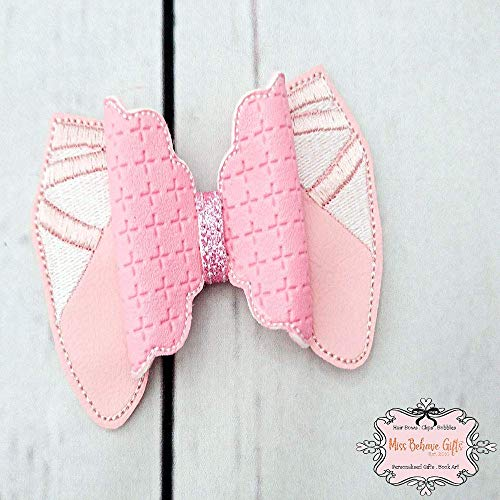 Ballet Shoes Pink Hair Bow Clip