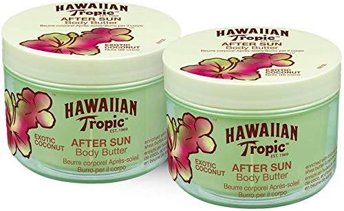 Hawaiian Tropic Body Butter Exotic Coconut - Crema Corporal After Sun con aroma fresco de Coco – Pack 2 x 200 ml