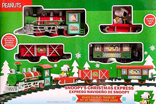 Ruz Snoopy Christmas Express Train with Lights and Sound