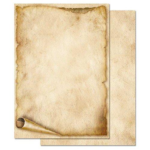 Carta da lettera decorati VECCHIO ROTOLO DI CARTA 50 fogli formato DIN A5