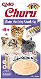 INABA Churu Sticks - Golosinas para Gatos Que se Pueden lamer para Alimentar con la Mano - Delicioso y Saludable refrigerio para Gatos - Pollo y camarones