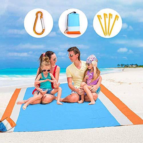 Gutsbox Picknickdecke 210 x 200 cm Stranddecke Strandmatte wasserdichte Strandtuch sandabweisende Tragbare Camingmatte