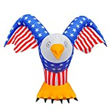 SEASONBLOW 5.5FT Patriotic Inflatable American Bald Eagle Independence Day 4th of July Lighted Blow up Party Decoration for Outdoor Indoor Home Celebration Garden Yard Photo Prop